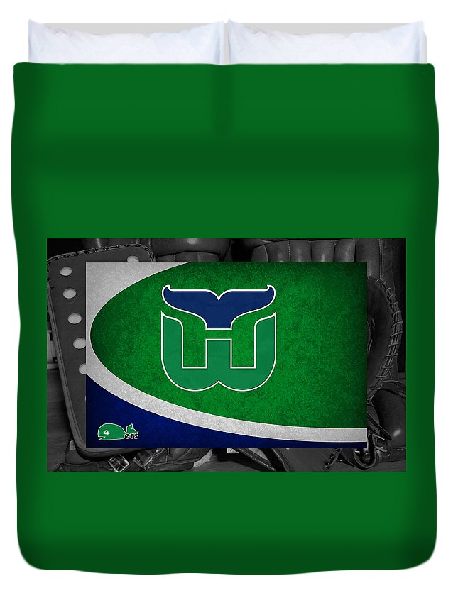 Whalers Duvet Cover featuring the photograph Hartford Whalers by Joe Hamilton