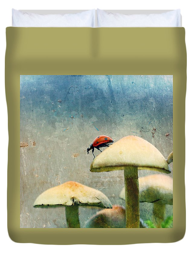 Ladybug Duvet Cover featuring the photograph Ladybug by Heike Hultsch