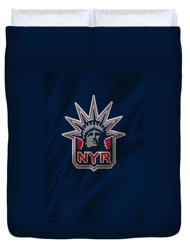 Rangers Duvet Cover featuring the photograph New York Rangers by Joe Hamilton