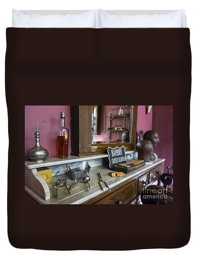 Barbershop Duvet Cover featuring the photograph 140221p295 by Arterra Picture Library