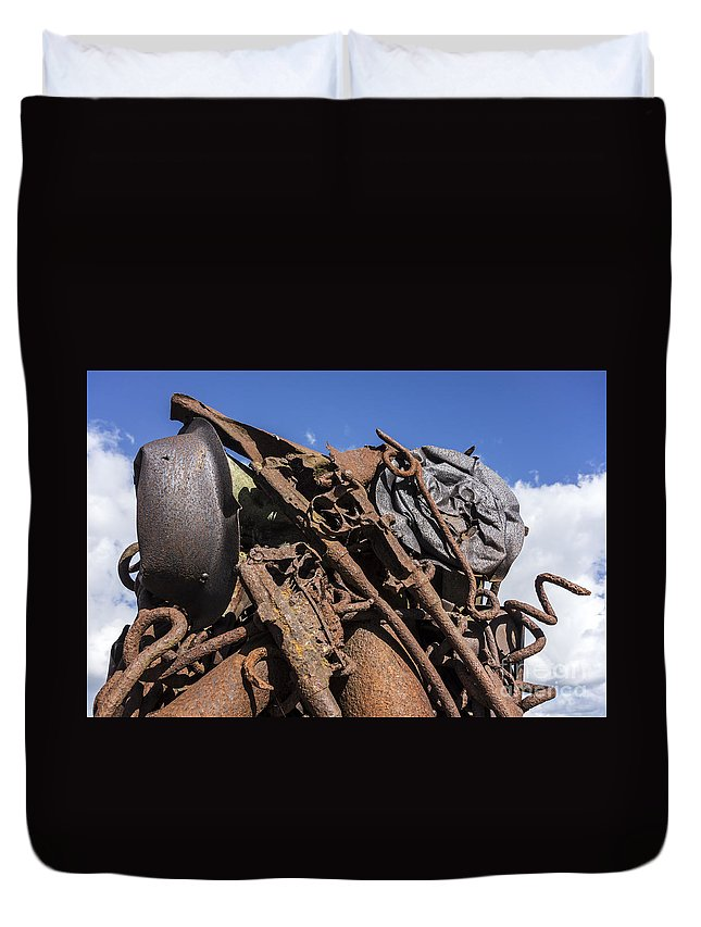 Compressed Duvet Cover featuring the photograph 140314p129 by Arterra Picture Library