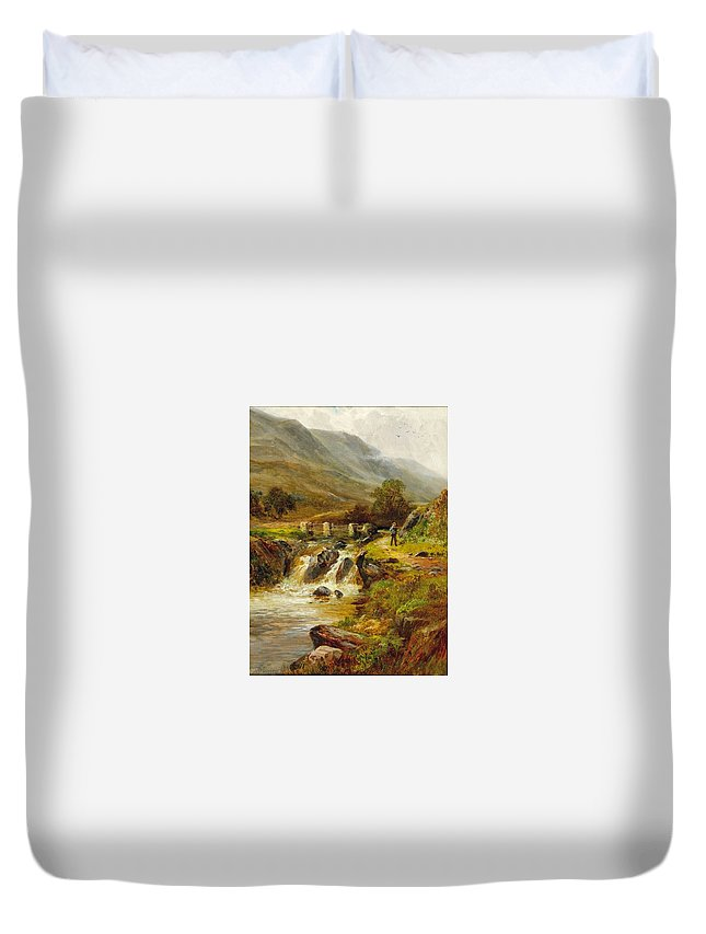 Norfolk Duvet Cover featuring the painting Norfolk Wroxham by MotionAge Designs