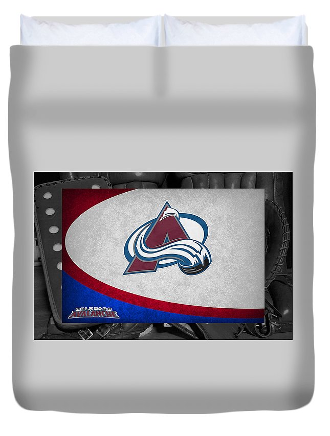 Avalanche Duvet Cover featuring the photograph Colorado Avalanche by Joe Hamilton