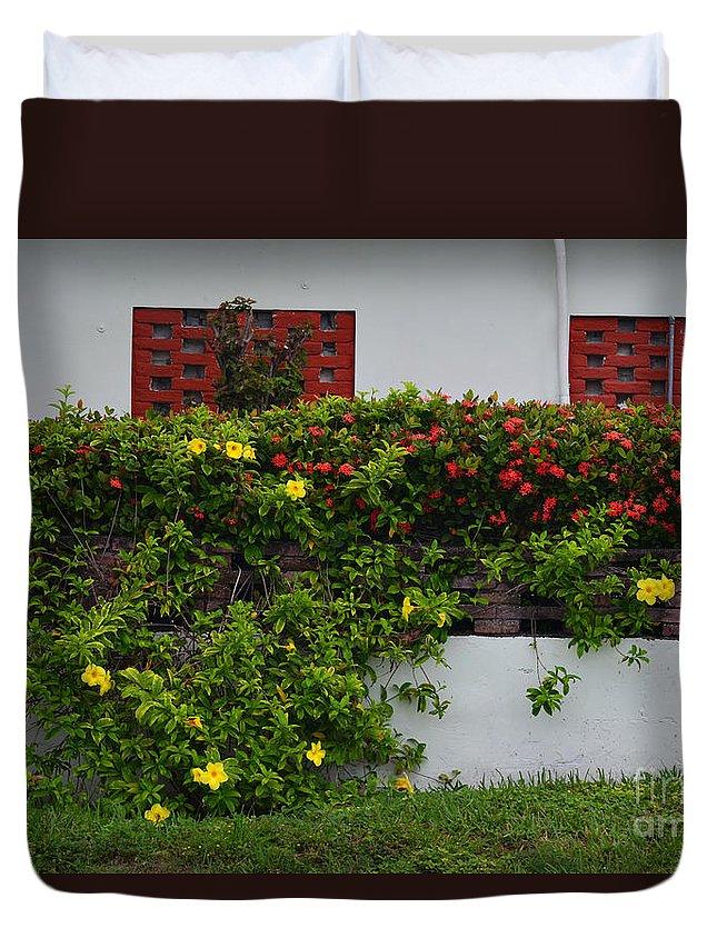 Flora Duvet Cover featuring the photograph 15- Garden Walk by Joseph Keane