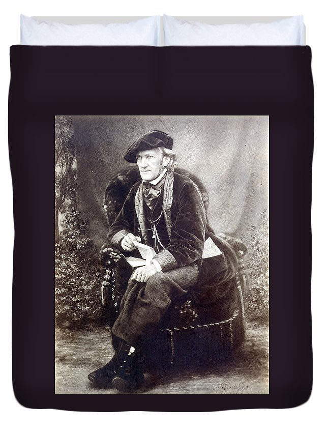 1868 Duvet Cover featuring the photograph Richard Wagner (1813-1883) by Granger