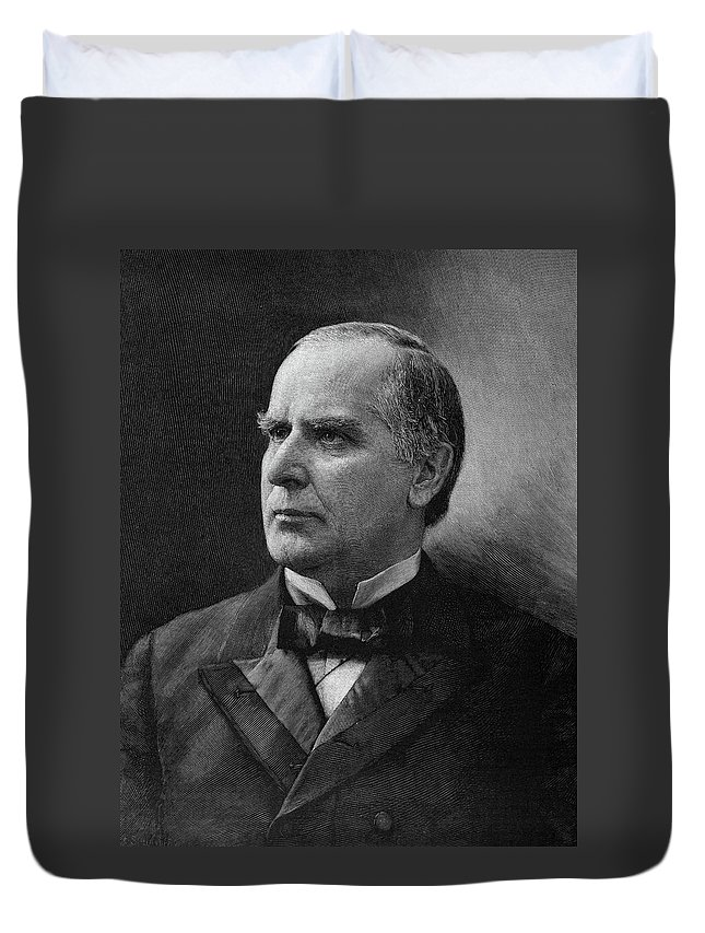 1896 Duvet Cover featuring the painting William Mckinley (1843-1901) by Granger