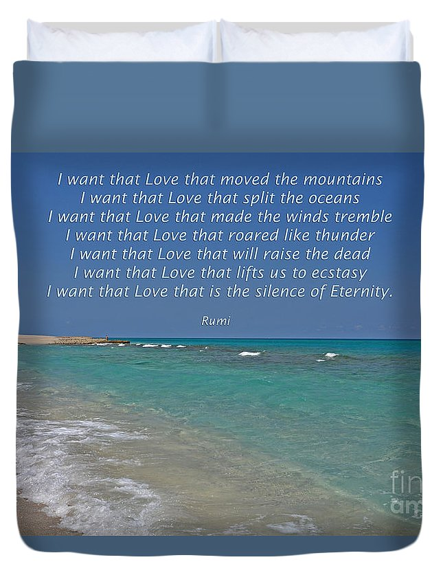 Rumi Duvet Cover featuring the photograph 151- Rumi by Joseph Keane