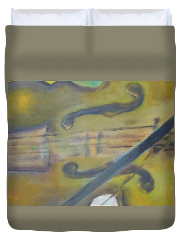 Abstract Duvet Cover featuring the painting Art By Lyle by Lord Frederick Lyle Morris - Disabled Veteran