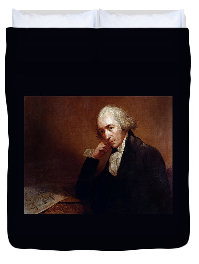 1792 Duvet Cover featuring the painting James Watt (1736-1819) by Granger