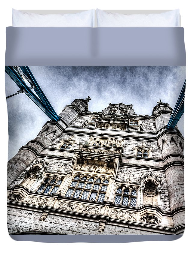 Tower Bridge Duvet Cover featuring the photograph Tower Bridge by David Pyatt