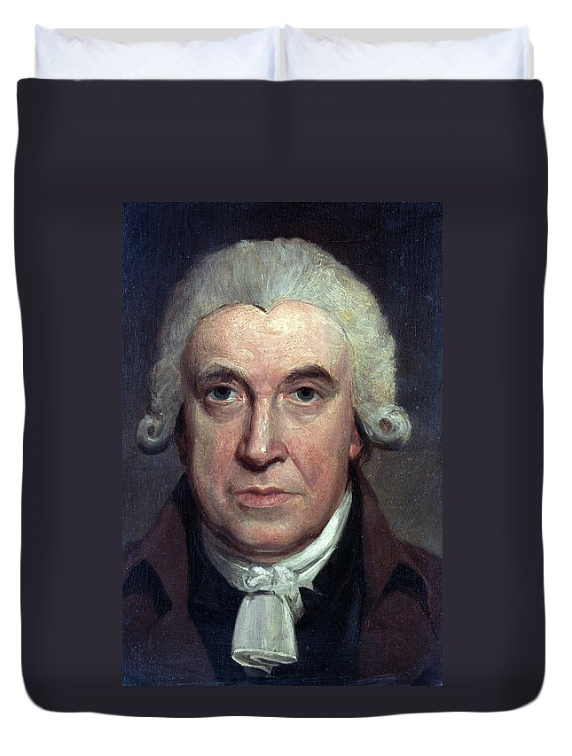 1797 Duvet Cover featuring the painting James Watt (1736-1819) by Granger