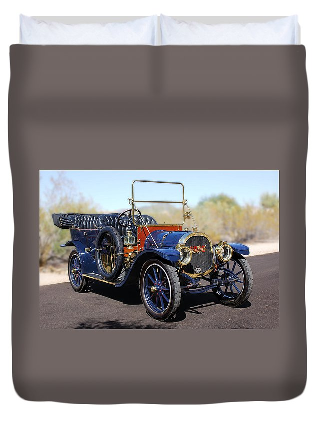 1910 Pope Hartford Model T Duvet Cover featuring the photograph 1910 Pope Hartford Model T by Jill Reger