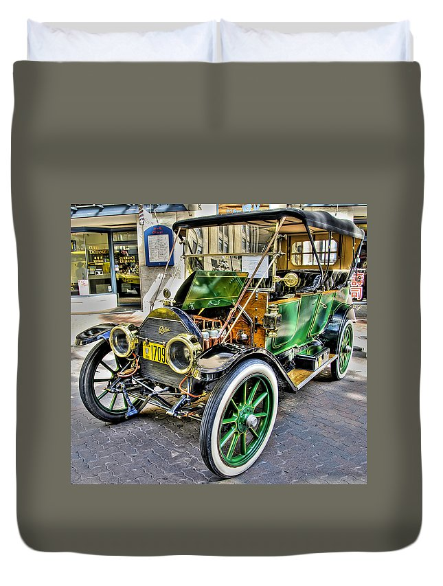 Antique Duvet Cover featuring the photograph 1911 Cadillac by Doug Matthews