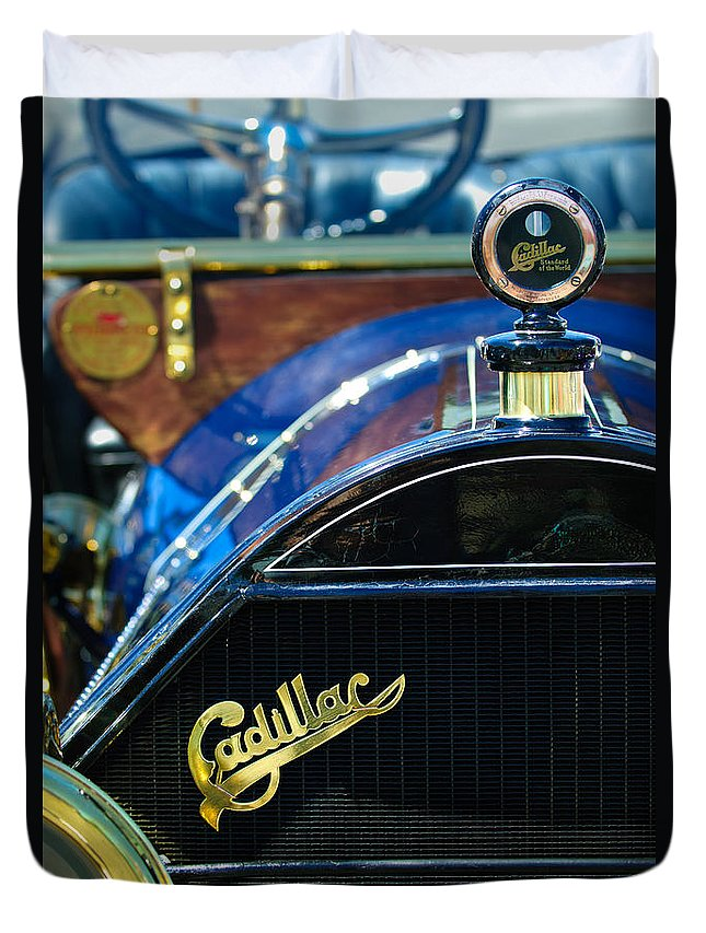 1911 Cadillac Duvet Cover featuring the photograph 1911 Cadillac Roadster by Jill Reger
