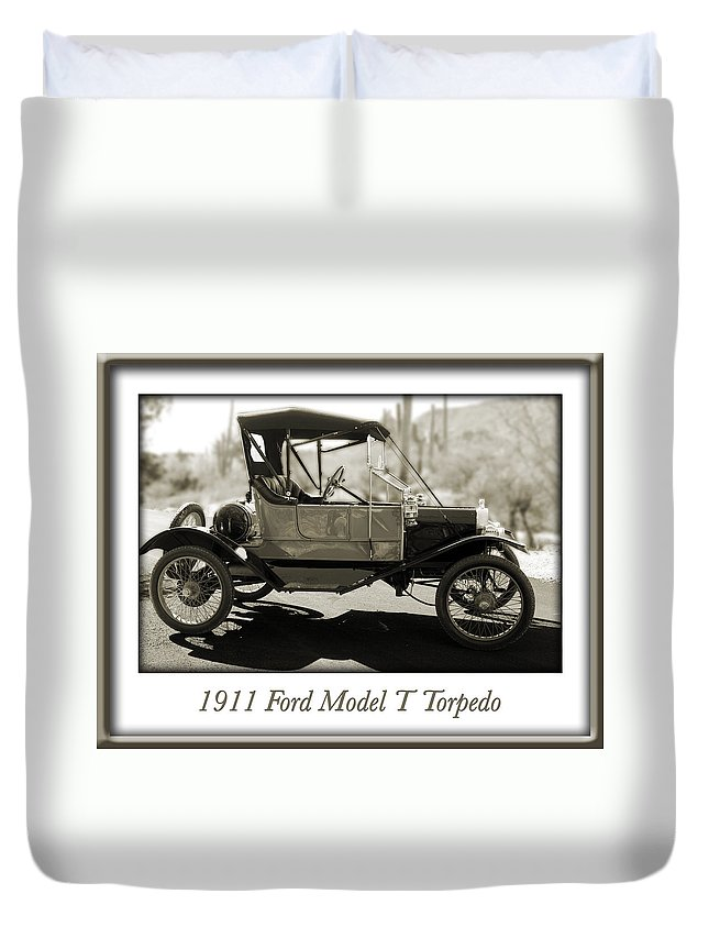 1911 Ford Model T Torpedo Duvet Cover featuring the photograph 1911 Ford Model T Torpedo by Jill Reger