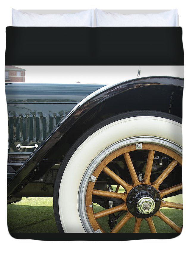 Antique Duvet Cover featuring the photograph 1917 Winton by Jack R Perry