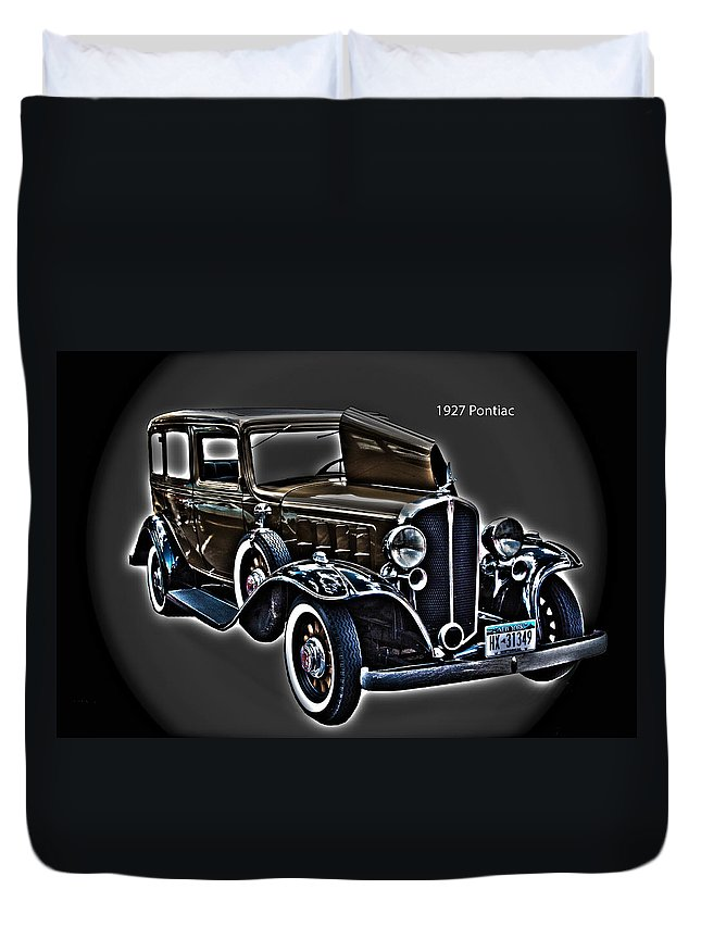 Cars Duvet Cover featuring the photograph 1927 Pontiac by Jim Markiewicz