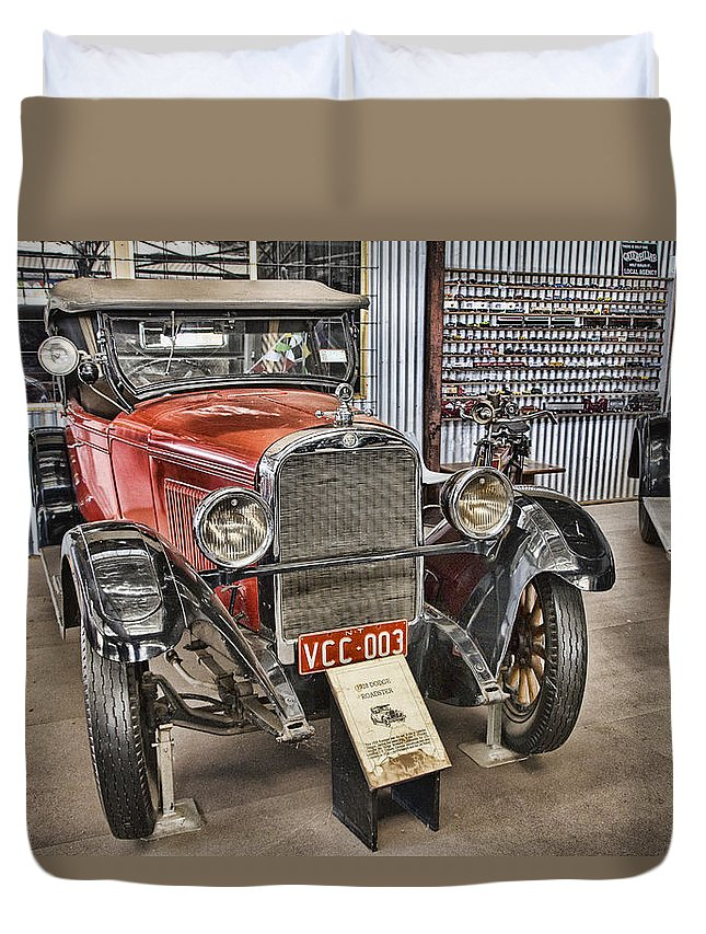1928 Dodge Roadster Duvet Cover featuring the photograph 1928 Dodge Roadster by Douglas Barnard