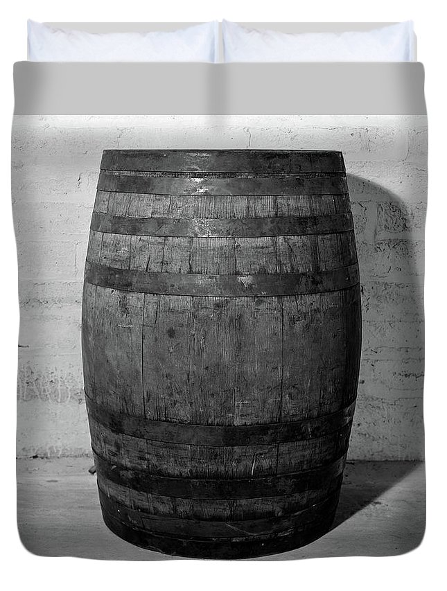 Photography Duvet Cover featuring the photograph 1930s 1933 Single Wooden Whisky Barrel by Vintage Images