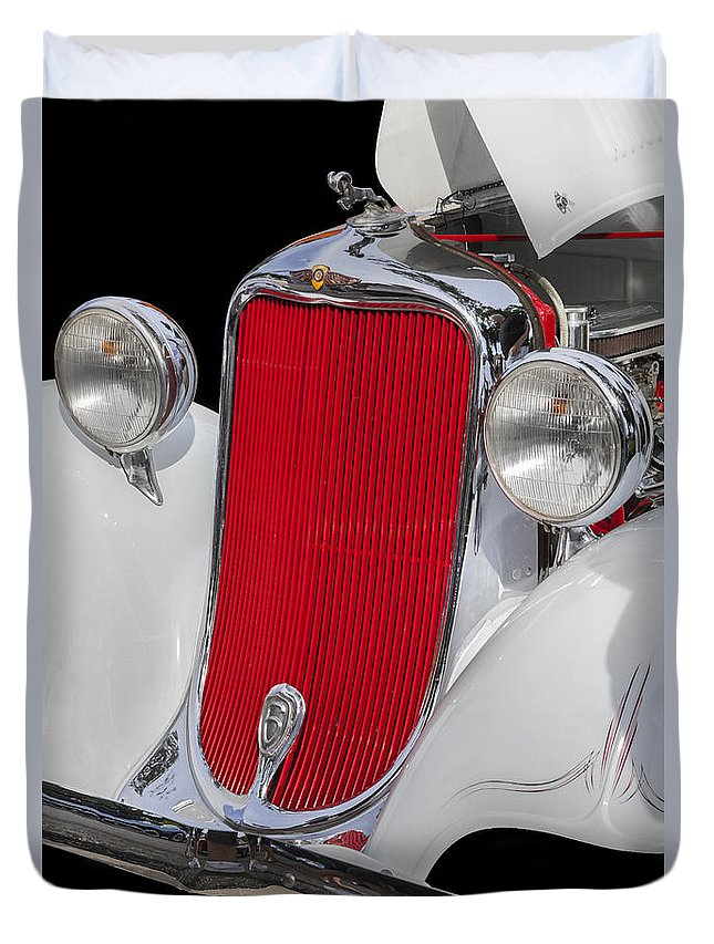 Dodge Duvet Cover featuring the photograph 1933 Dodge Sedan by Rich Franco