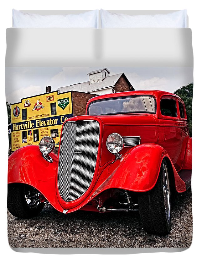 Transportation Duvet Cover featuring the photograph 1933 Ford Coupe by Marcia Colelli
