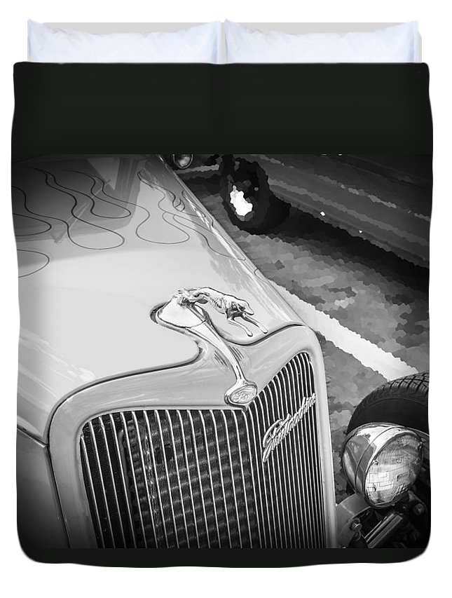 1934 Ford Duvet Cover featuring the photograph 1934 Ford Hot Rod by Rich Franco