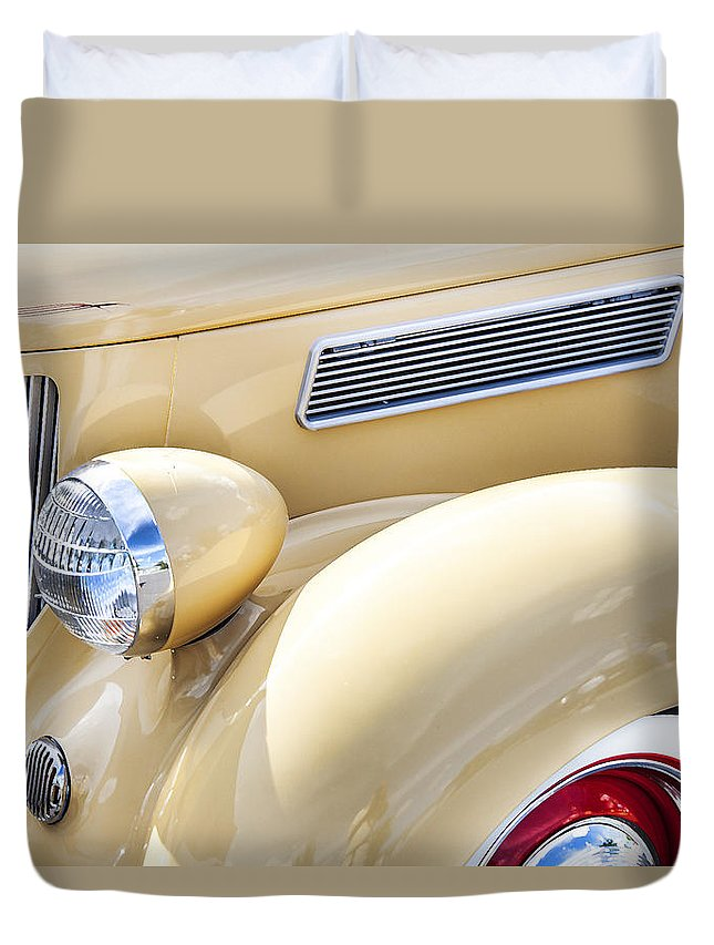 1936 Ford Duvet Cover featuring the photograph 1936 Ford Cabriolet by Rich Franco