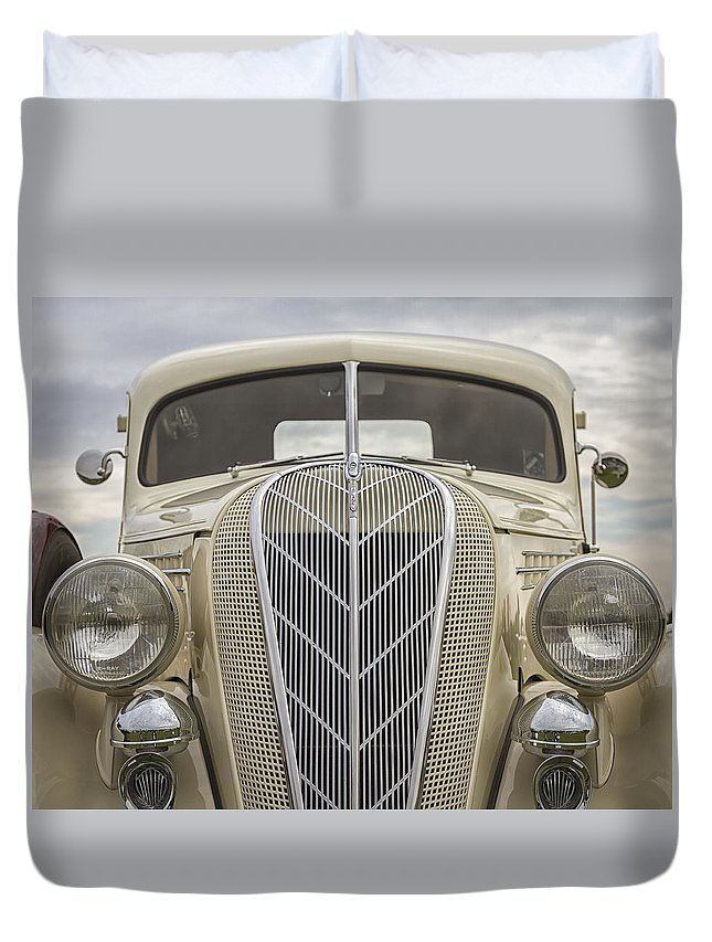 Antique Duvet Cover featuring the photograph 1936 Hudson Terraplane Truck by Jack R Perry