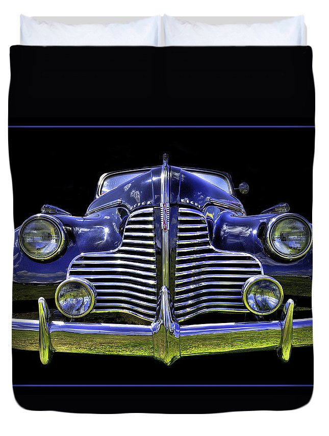 1940 Duvet Cover featuring the photograph 1940 Buick by Jay Droggitis