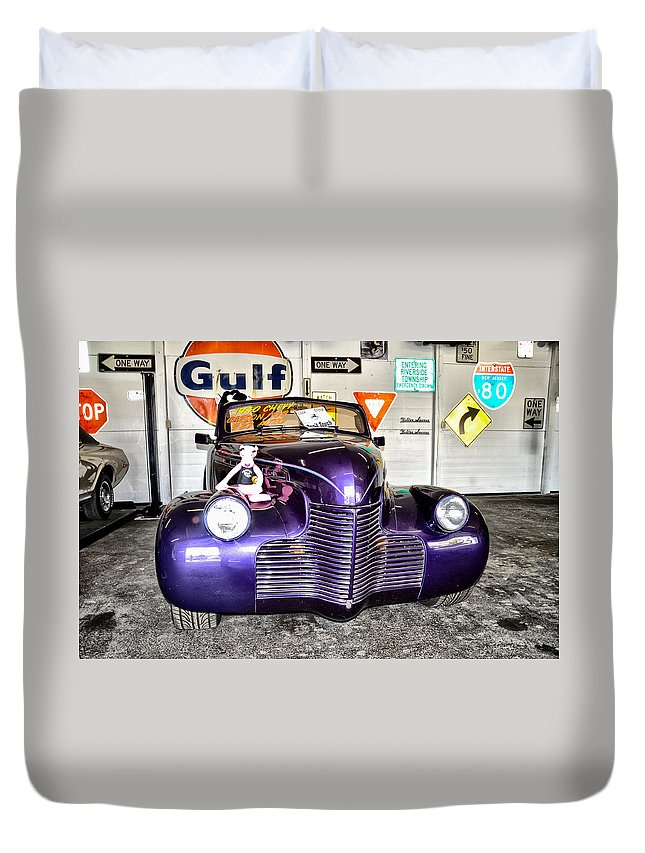 1940 Duvet Cover featuring the photograph 1940 Chevy by Bill Cannon