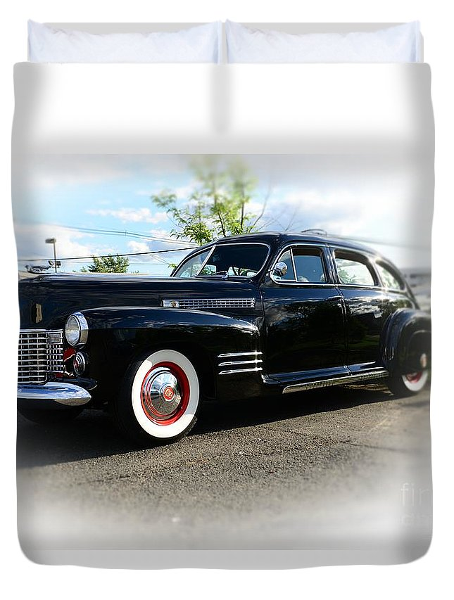 1941 Cadillac Coupe Duvet Cover featuring the photograph 1941 Cadillac Coupe by Paul Ward