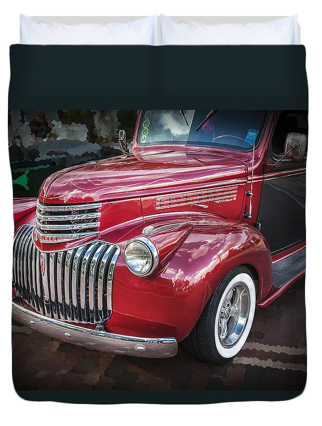 1946 Chevrolet Duvet Cover featuring the photograph 1946 Chevrolet Sedan Panel Delivery Truck by Rich Franco