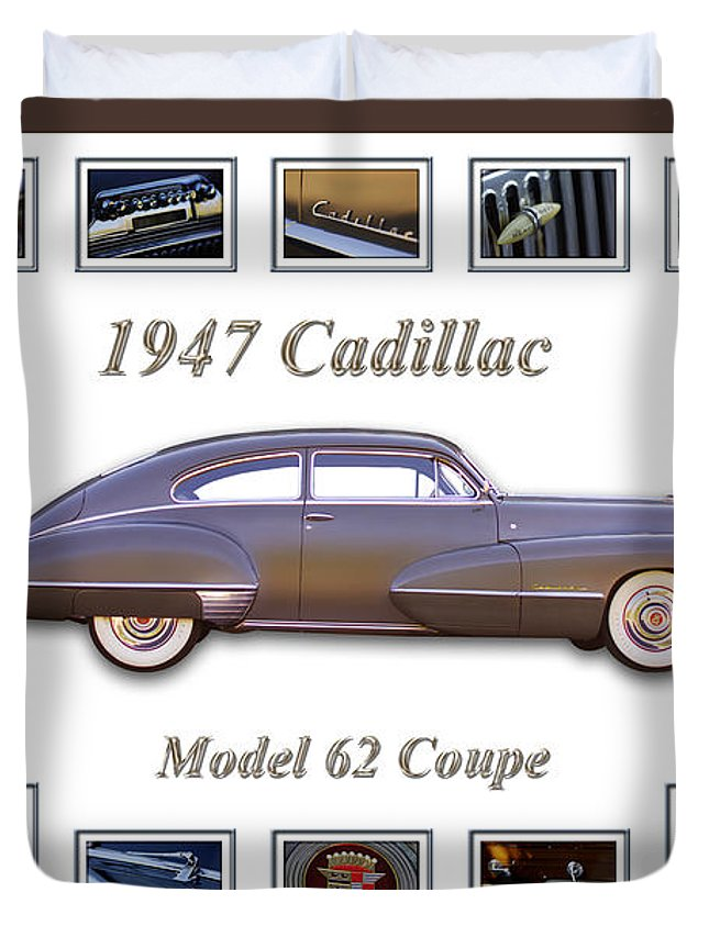 1947 Cadillac Model 62 Coupe Art Duvet Cover featuring the photograph 1947 Cadillac Model 62 Coupe Art by Jill Reger