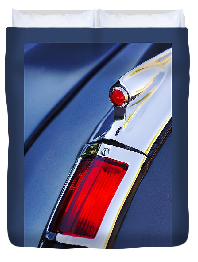 1947 Cadillac Model 62 Coupe Taillight Duvet Cover featuring the photograph 1947 Cadillac Model 62 Coupe Taillight by Jill Reger