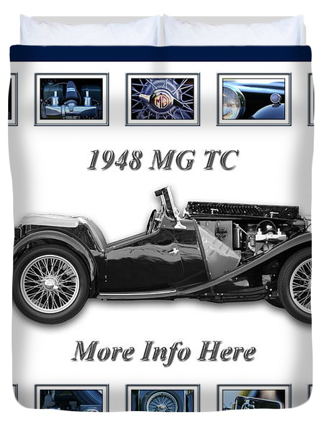 1948 Mg Tc Art Duvet Cover featuring the photograph 1948 Mg Tc by Jill Reger
