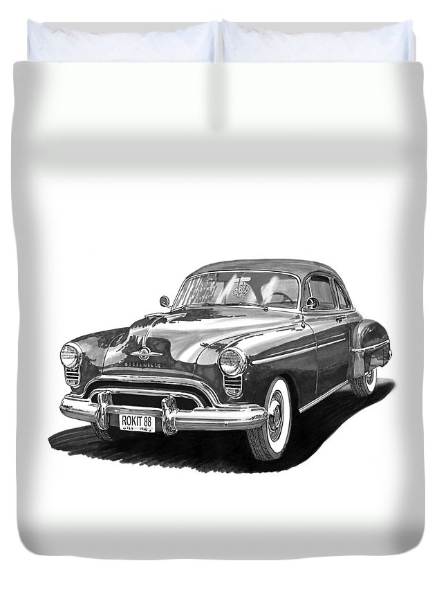American Car Drawings Duvet Covers