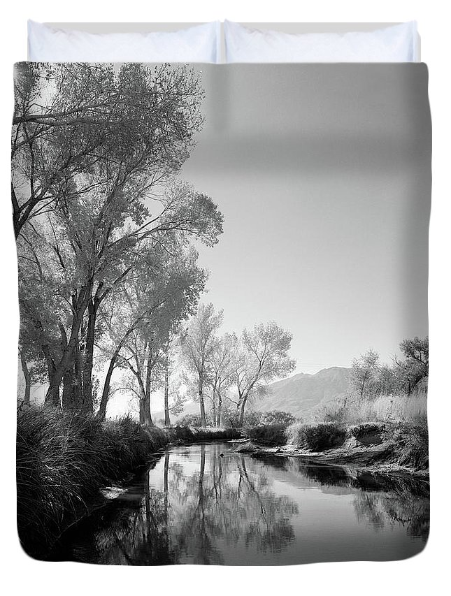 Photography Duvet Cover featuring the photograph 1950s Infra-red Image Peaceful Stream by Vintage Images