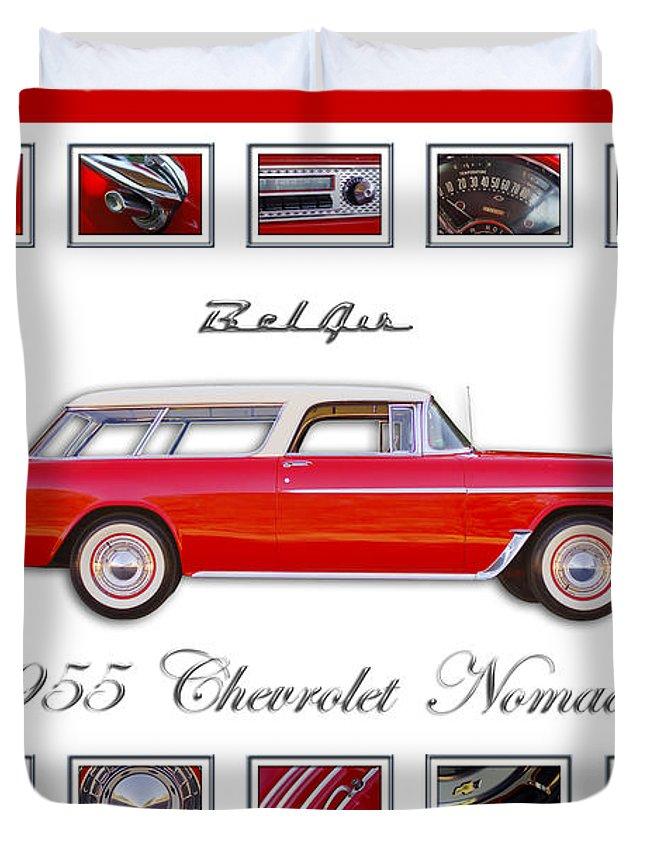 1955 Chevrolet Belair Nomad Art Duvet Cover featuring the photograph 1955 Chevrolet Belair Nomad Art by Jill Reger
