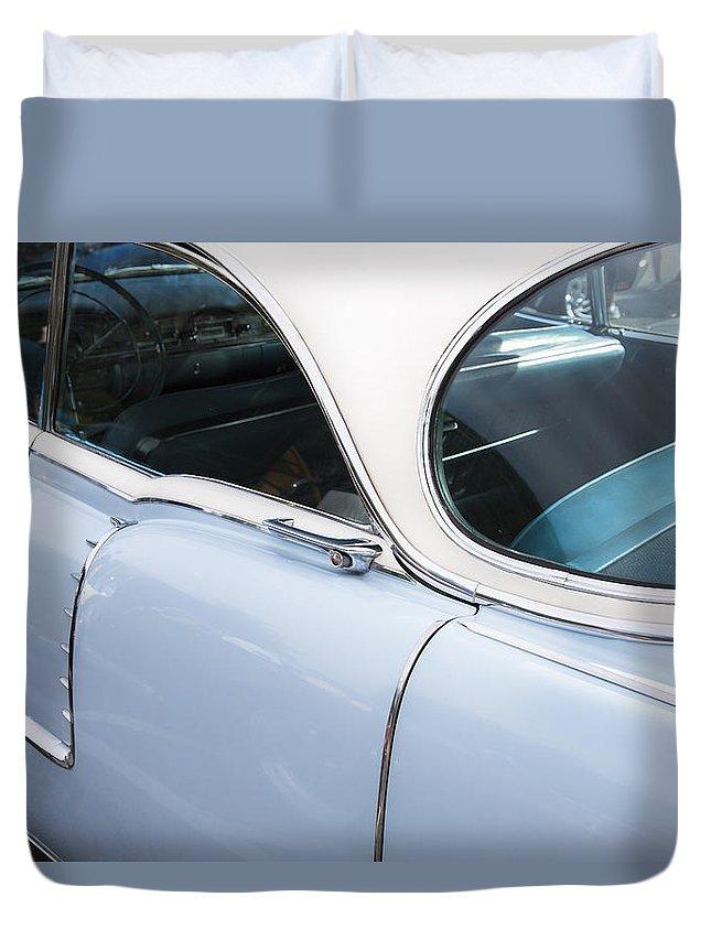 1956 Cadilac Duvet Cover featuring the photograph 1956 Cadilac Sedan De Ville by Rich Franco