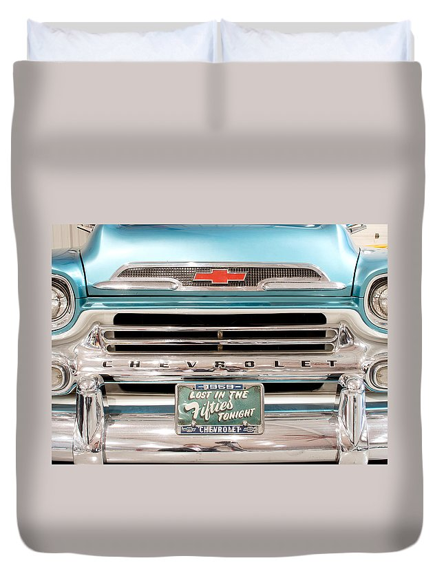 1959 Chevrolet Apache Duvet Cover featuring the photograph 1959 Chevrolet Apache 012315 by Rospotte Photography