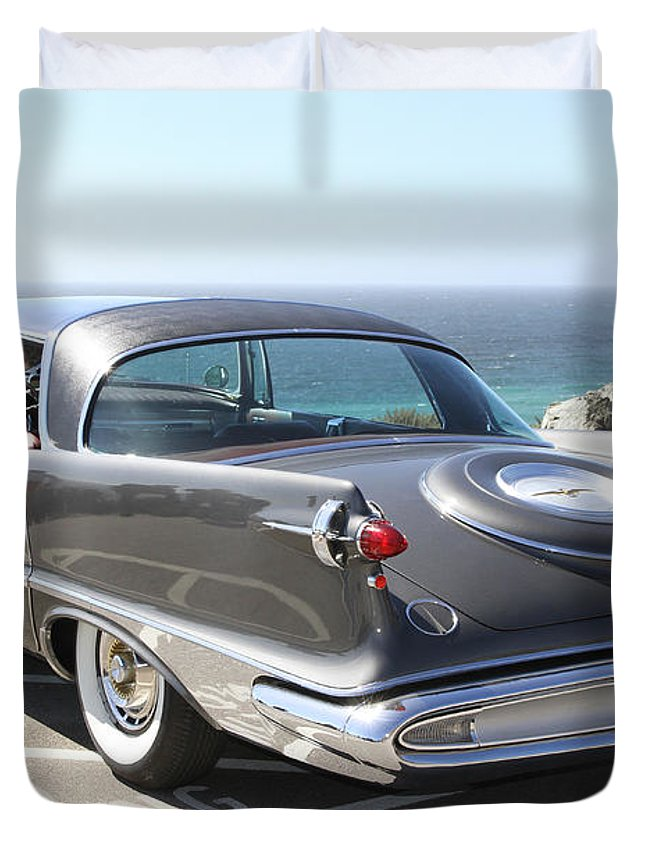 Chrysler Imperial Taillight Duvet Cover featuring the photograph 1959 Imperial Crown by Christiane Schulze Art And Photography