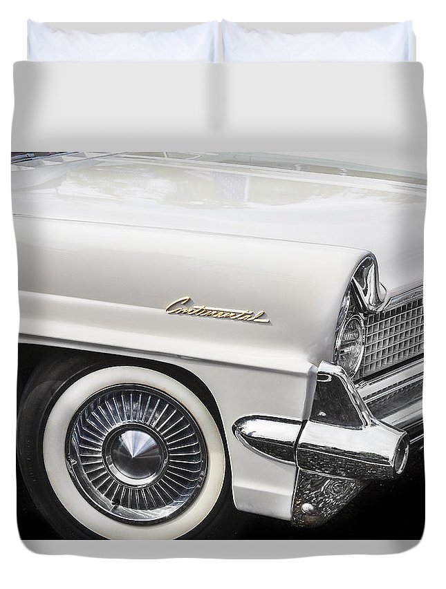 Lincoln Duvet Cover featuring the photograph 1959 Lincoln Continental by Rich Franco