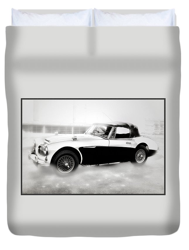 1960 Duvet Cover featuring the photograph 1960 Austin Healey by Bill Cannon