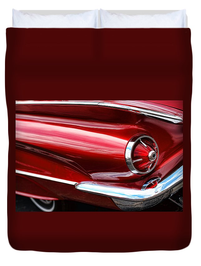 1960 Duvet Cover featuring the photograph 1960 Buick Lesabre by Gordon Dean II