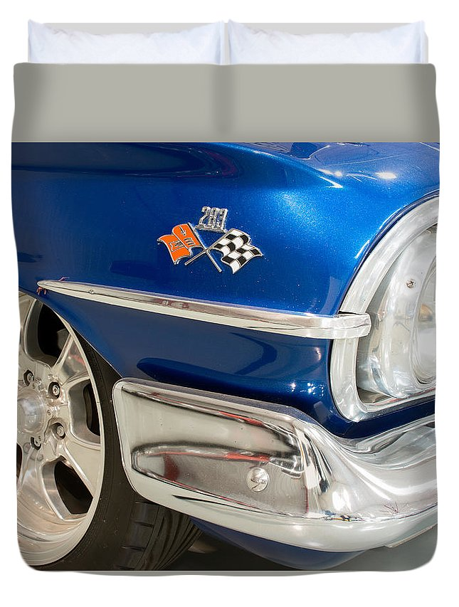 1960 Chevrolet Bel Air Duvet Cover featuring the photograph 1960 Chevrolet Bel Air 012315 by Rospotte Photography