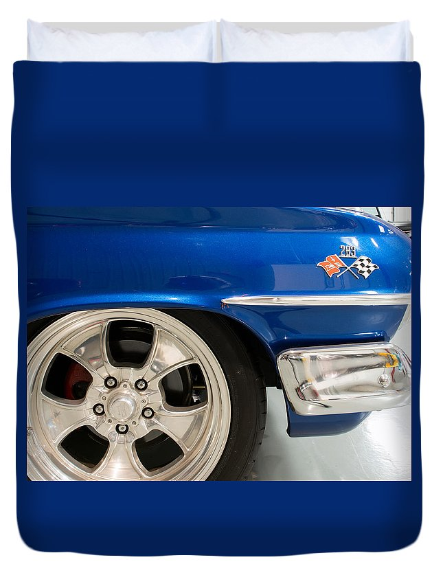 1960 Chevrolet Bel Air Duvet Cover featuring the photograph 1960 Chevrolet Bel Air 2 012315 by Rospotte Photography