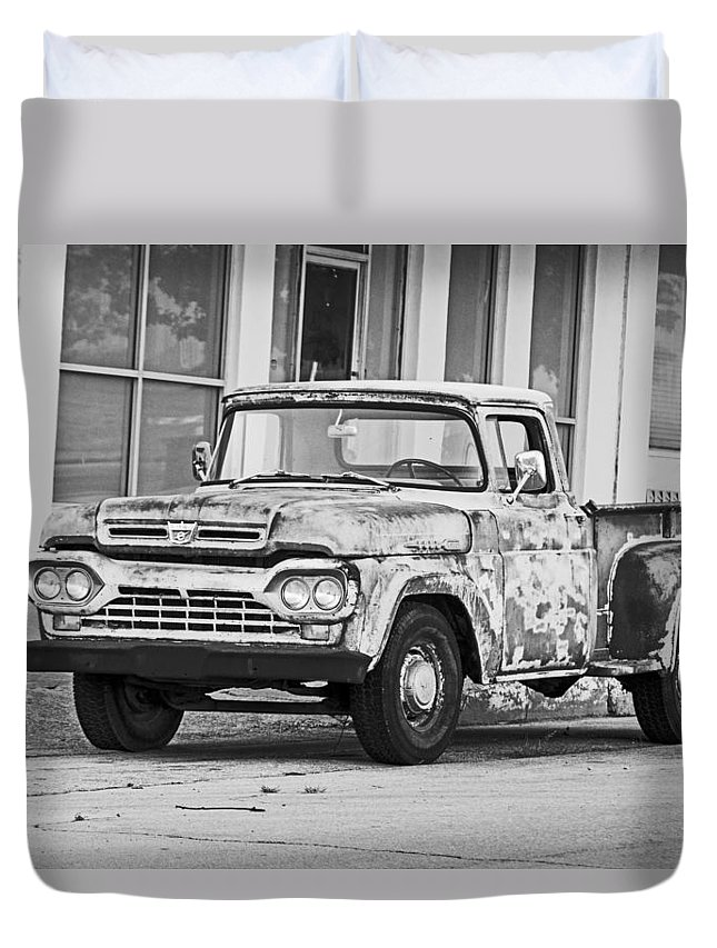 Antique Duvet Cover featuring the photograph 1960 Ford F-250 by Ronnie Prcin