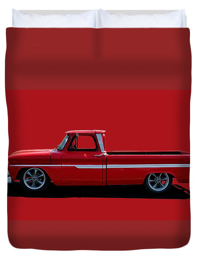 C10 Duvet Cover featuring the photograph 1960's Chevy C10 Pickup by Alan Hutchins