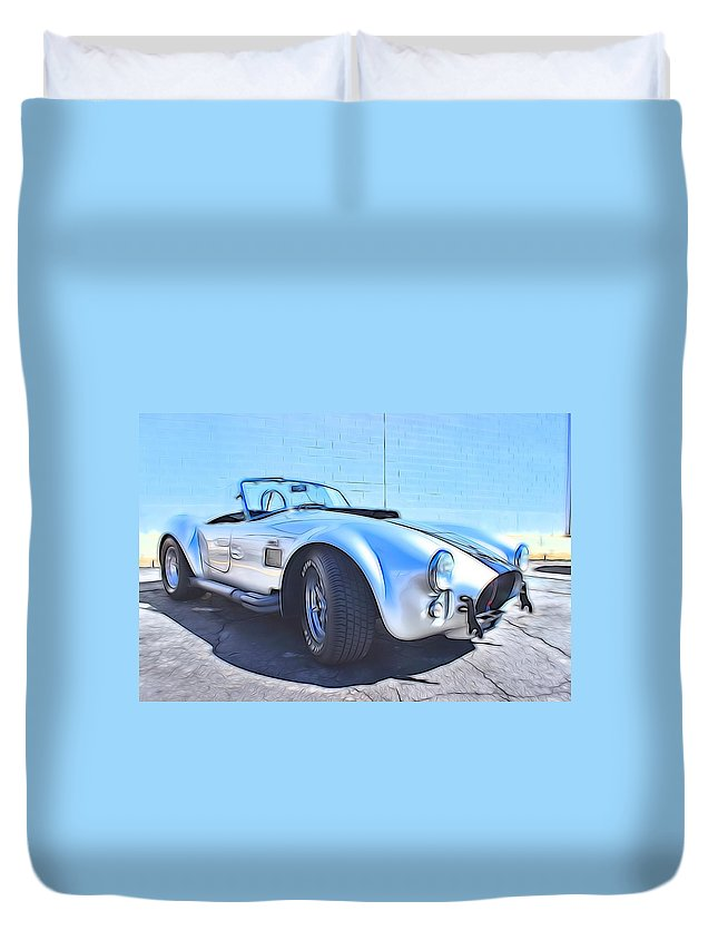 Car Duvet Cover featuring the photograph 1965 Shelby Cobra - 5 by Becca Buecher