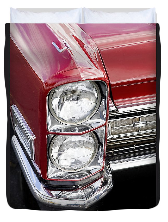 Caddy Duvet Cover featuring the photograph 1968 Cadillac Deville You Looking At Me by Rich Franco